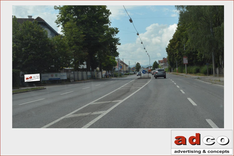 Type: Werbefläche Auf Zaun Land: Österreich Bundesland: Niederösterreich  Ort: St.Pölten Adresse: Mariazellerstraße 73 85